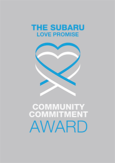 The 2020 Subaru Love Promise Community Commitment Award